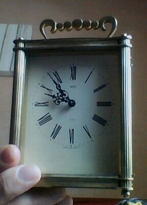 Smiths Heavy Brass 8 Day Carriage Clock