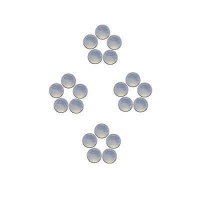 5x5mm 20pc AAA Quality Rose Cut Faceted Cabochon Chalcedony Loose Gems