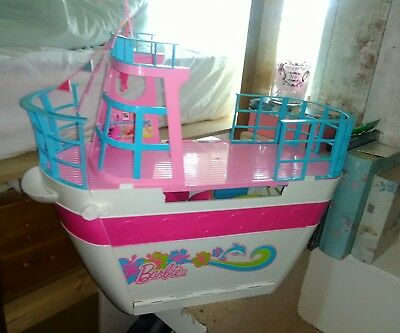 VINTAGE Barbie Sisters Cruise Ship Boat Yacht Water Slide Pool Dolphin Party
