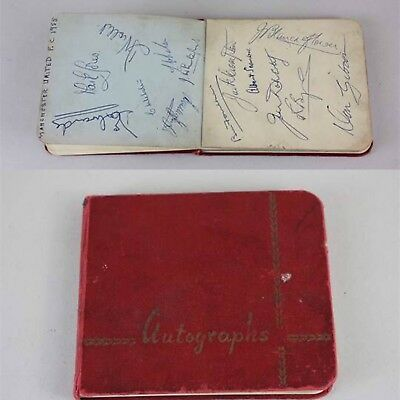 Rare Busby Babes Manchester United Football Team Autograph Book 1955
