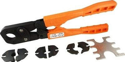 SharkBite 23100 PEX Crimp Ring Tool Kit, 3/8-Inch, 1/2-Inch, 3/4-Inch and 1-Inch