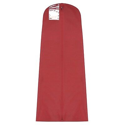 "72"" Burgundy Red Breathable Wedding Bridal & Bridesmaid Gown Dress Cover Bag"