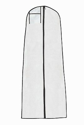 """Hoesh White / Black Trim Breathable Bridal Cover + 8"""" Tapered Gusset"""