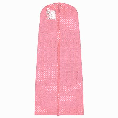 "Hoesh Pink Polka Dot Breathable Bridal Cover + 8"" Tapered Gusset"