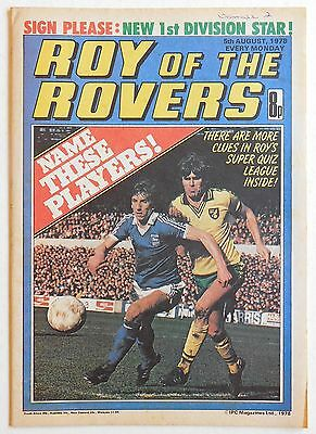 ROY OF THE ROVERS Comic - 5th August 1978