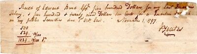 1797, Jasper Yeats, Constitutional Convention. signed payment for securities