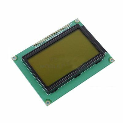 5V ST7920 128x64 12864 LCD Display Yellow Green Backlight Parallel Serial
