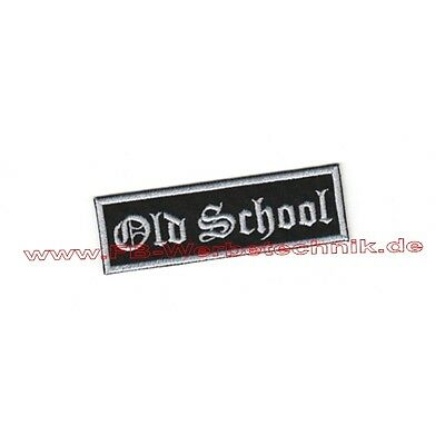 Old School Aufnäher Patch 10 x 3cm Biker Rockabilly Patches Vintage Old Skool