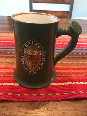 Rare Antique 1900s Sweet Briar Institute National Art China Trenton NJ Gold Mug