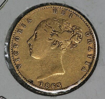 1863 Great Britain 1/2 Gold Sovereign!