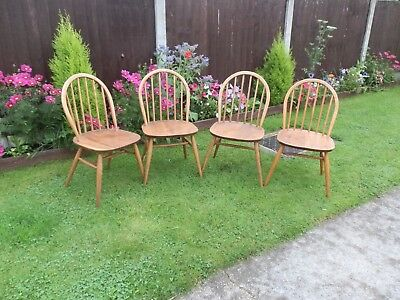 4 vintage Winsor Ercol Chairs
