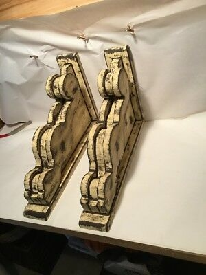 Large Rustic victorian wood corbels rough sawn