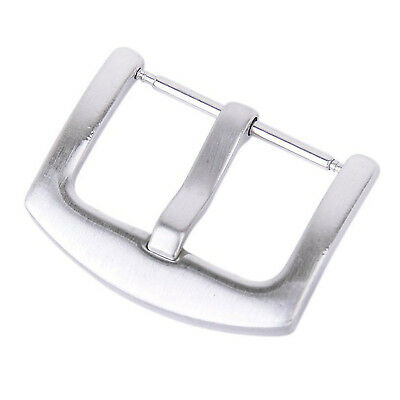 2X(Buckle Stainless Steel clasp w/ Solid Spring Bar for 22mm Bracelet Watch Ba I