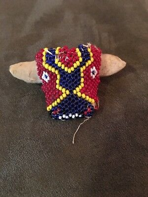 Vintage Huichol Beaded Razon Small Ball School