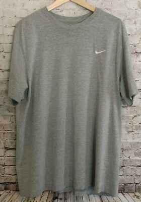 NIKE Standard Fit Short Sleeve T-SHIRT MEN'S XXL Gray