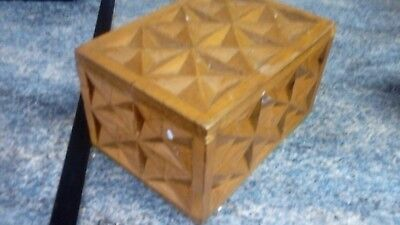 small rustic wooden box