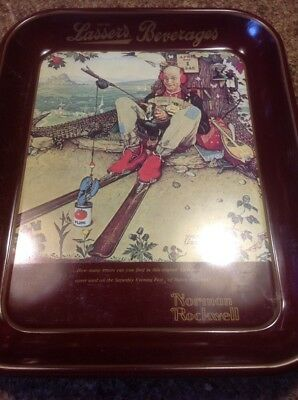 Norman Rockwell Drink Lassers Beverages Collector Tray