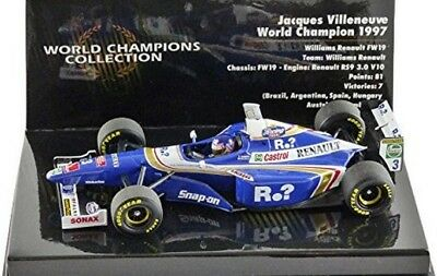 Voiture miniature au 1/43 Williams Renault FW19 F1 World Champion 1997 Jacques V