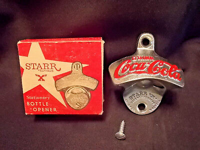 Vintage Coca Cola Wall Mount Bottle Opener Starr X Brown Co Patent 2333088