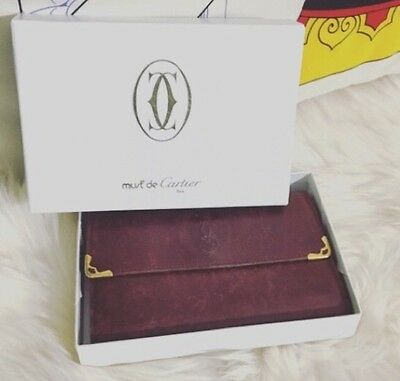 Vintage Must' de Cartier Brown Leather Wallet