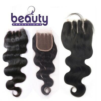 Brazilian Virgin Remy Human Hair 3 Way Parting Lace Top Closure 6A Body Wave 4x4
