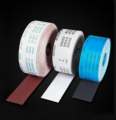 4''100mm Emery Cloth Roll Aluminium Oxide Sandpaper Grit 60-1000 Red White Black