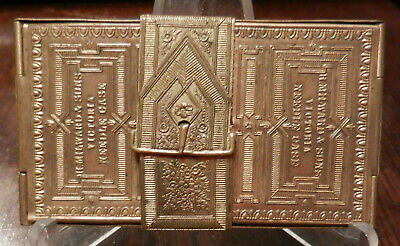 H. Milward & Sons Victoria Needle case Registered 12 April 1872 Brass NICE!