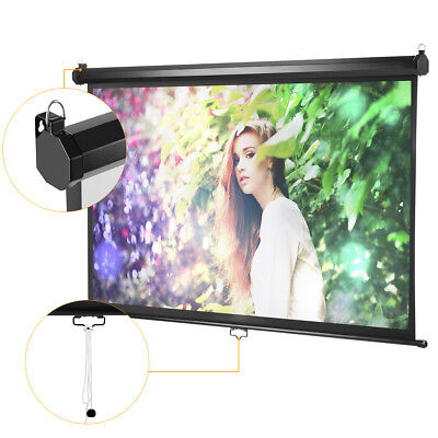 1080P 100 Inch 16:9 1.2 Gain Manual Pull Down Projection Projector Screen Movies