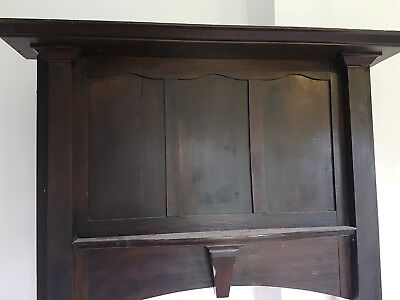 Antique solid wood fire surround/mantlepiece
