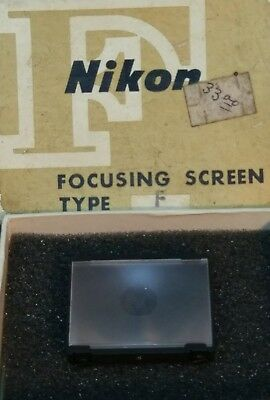 Nikon Camera F type focusing screen vintage