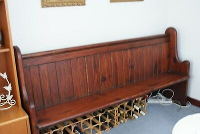 Antique Victorian oak church pew