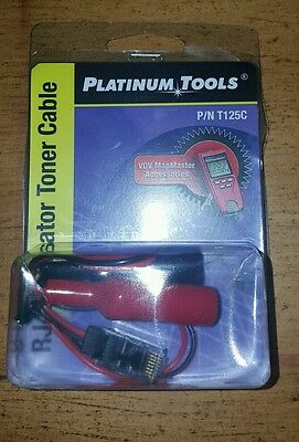 Platinum Tools RJ45 Alligator Toner Cable T125C for use with MapMaster T119C