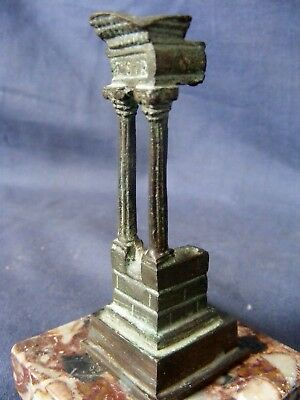 18th Century Grand Tour Bronze Classical Greek Ruin