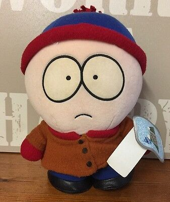 """Vintage 1999 Comedy Central - South Park STAN 10"""" Plush Soft Toy With Tags"""