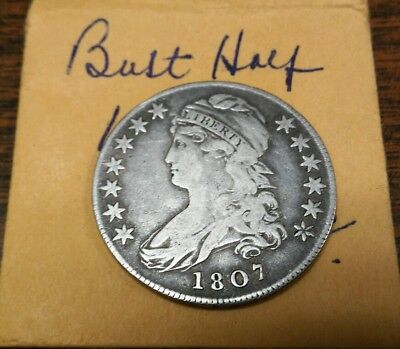Early 1807 Bust Silver Half Dollar**** Great Condition