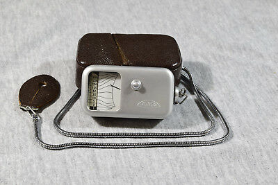 Vintage, Mint, Minox Light Meter With Case And Chain