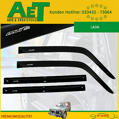 Wind Deflector Lada Niva M 5 DOOR COMPLETE - Black with Logo White