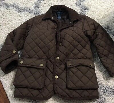 Polo Ralph Lauren - Toddler Boy - Quilted Barn Jacket 4 4T Brown