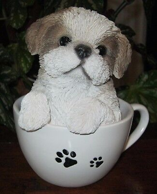 New Pet Pals Shih Tzu Tea Cup Dog Figurine