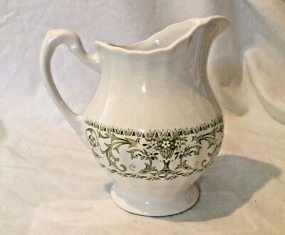 Creamer J & G Meakin England Classic Forum China Green Excellent Coffee Tea