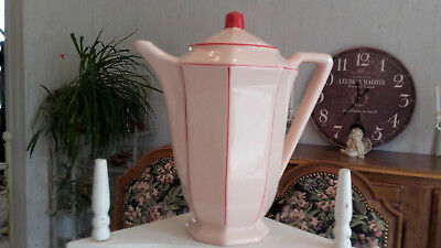 """Ancienne  Cafetiere / Verseuse  Art-Deco  """" 9238 """"  Digoin  N° 5"""