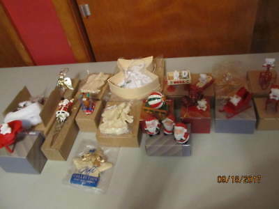 Avon Ornaments - New In The Boxes - Lot Of 25 Plus - Angels, Teddy Bears & More