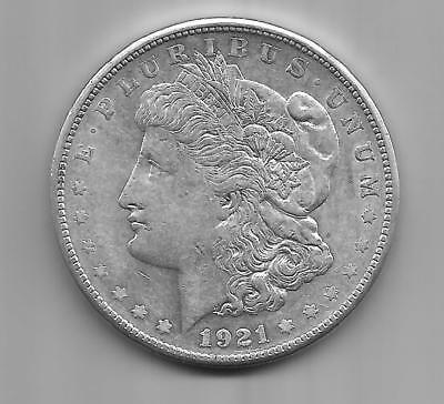 1921 S      Morgan  Silver  Dollar  ( Choice  About  Uncirculated  ) Nice