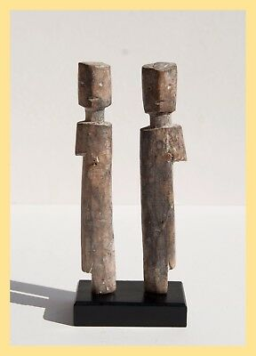 TWIN ADAN SPIRITS - Hand Carved Wooden Twin Figures, Adan Tribe, Ghana, AFRICA
