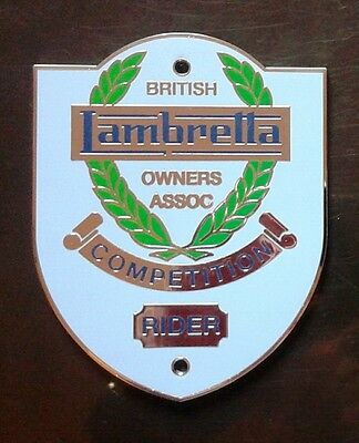 British Lambretta Owners Association - Large BLOA Competition Rider Metal Shield