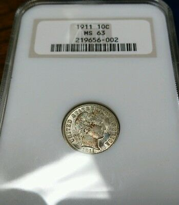 1911 MS63 BARBER DIME*** NGC Certified