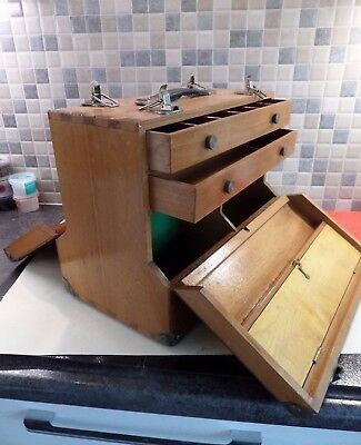 Vintage French Polishers Wooden Tool Chest- Opens Both Sides - Collectors Box