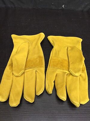 Wells Lamont Mens Premium Leather Work Gloves. Size Large One Pair