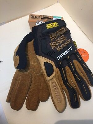 Mechanix Leather M-Pact High-Performance Work Gloves X-Large New With Tags