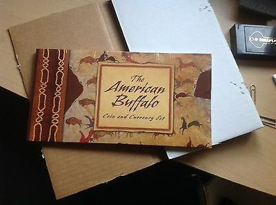 LOT of (5) 2001 The American Buffalo Coin and Currency Sets. Sealed. Original!!!